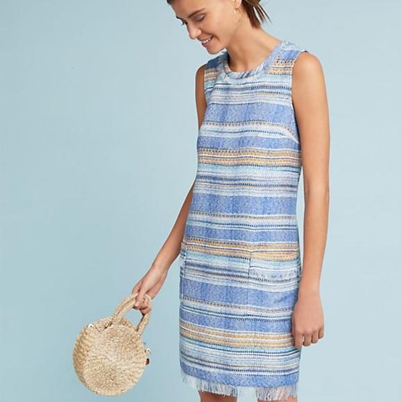 5345a16f5e19 Anthropologie Dresses & Skirts - Akemi + Kin Striped Tweed Shift Dress